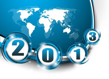Creative New Year 2013  Clip-art Stock Vector - 16655803