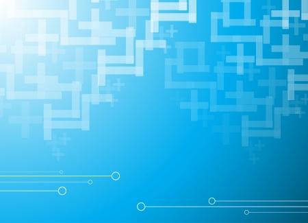 hitech: Abstract blue hi-tech background  Clip-art