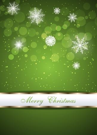 Christmas beautiful green background  Clip-art Stock Vector - 16708748