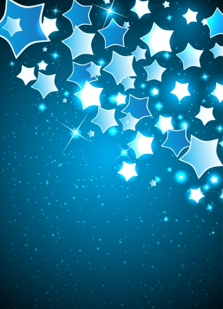 Christmas Background with Stylized Star  Clip-art Vector