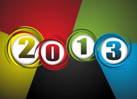 twenty thirteen: New Year theme abstraction  Clip-art