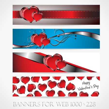 Banners for web. Love.  Clip-art Stock Vector - 17310752
