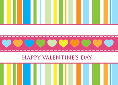 Gift card. Happy Valentines Day. Clip-art Vector