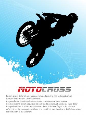 Vector motocross  Clip-art Vector