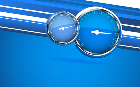 Vector car speedometer  Abstract background  Clip-art Vector