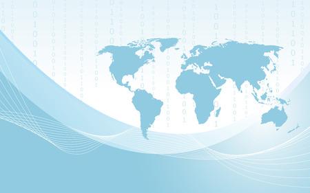 informational: Planet earth informational stream  Vector  Clip-art