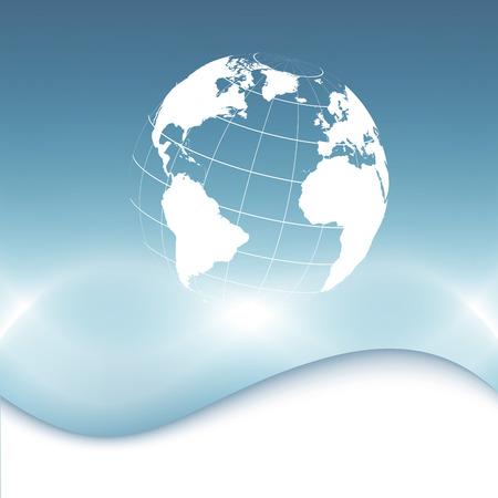informational: Planet earth informational stream  Vector illustration  Clip-art