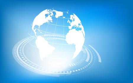 Planet earth informational stream  Vector illustration  Clip-art Vector