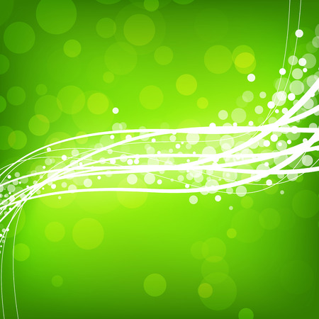 Abstract green background with wave  Clip-art Vector