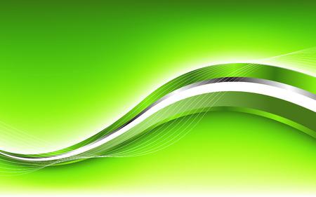 抽象的な緑色の背景クリップ アートの波  イラスト・ベクター素材