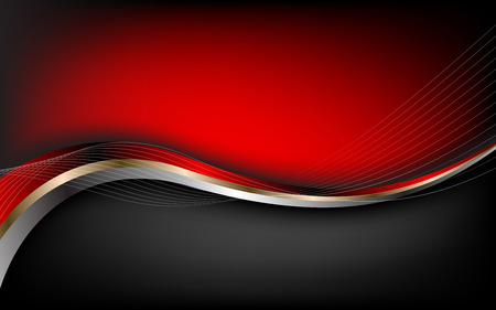 Stylish abstract red background. Vector. Clip-art Ilustração