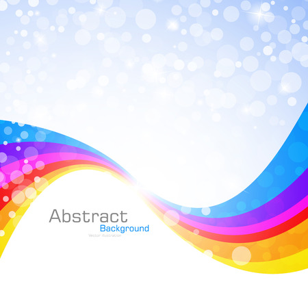 Abstract rainbow background. Vector Illustration. Clip-art Vector