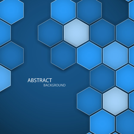 Abstract blue background hexagon. Vector illustration. Clip-art Vector