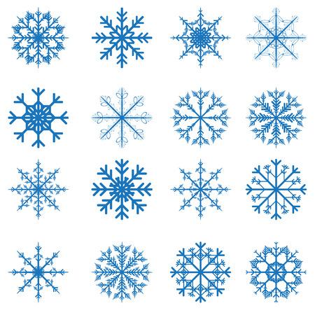 Vector snowflakes set for Christmas design. Clip-art Vector