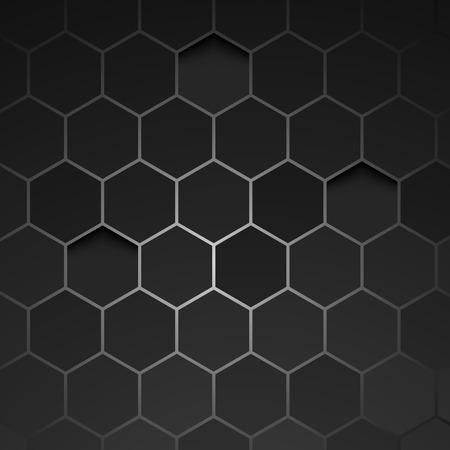 Abstract black background hexagon. Vector. Clip-art
