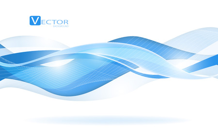 Abstract blue waves - data stream concept. Clip-art Vector