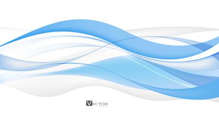 curvas: Ondas abstractas del azul - concepto de flujo de datos. Ilustraci�n del vector. Galer�a de im�genes Vectores
