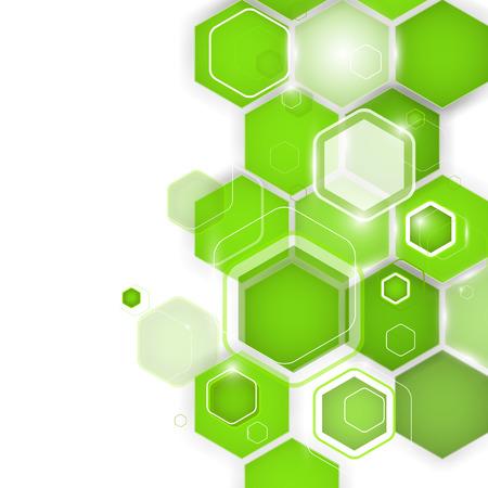 Abstract green background hexagon. Vector illustration. Clip-art