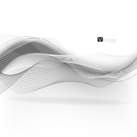 Abstract waves - data stream concept. Vector. Clip-art