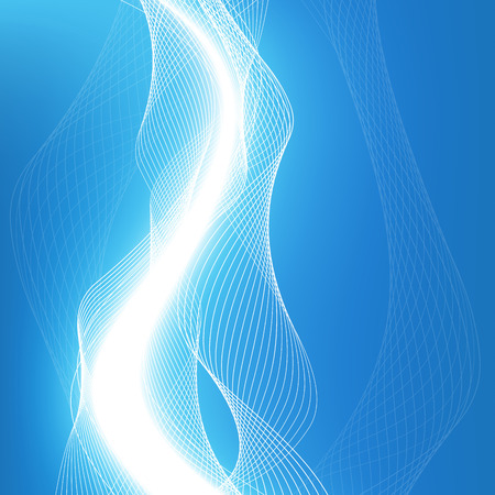 Abstract waves - data stream concept. Vector Illustration. Clip-art Vector