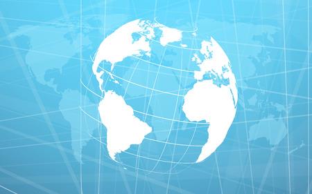informational: Planet earth informational stream. Vector illustration. Clip-art
