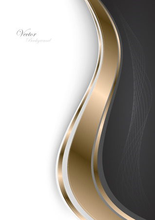 Stylish abstract gold background. Vector Illustration. Clip-art