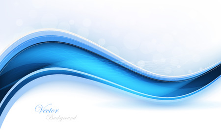 Abstract blue waves - data stream concept. Vector Illustration. Clip-art Vector