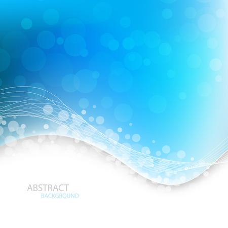 Fondo azul hermoso. Ilustración del vector. Clipart