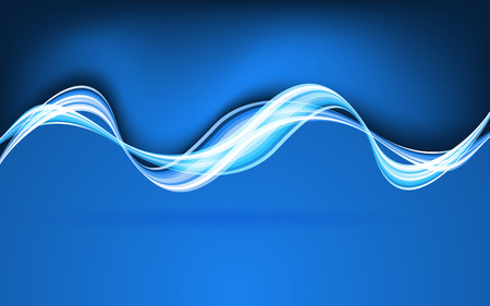 blue waves vector: Abstract blue waves. Vector Illustration. Clip-art