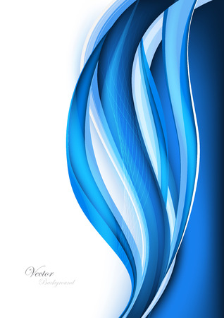 data stream: Abstract blue waves - data stream concept. Vector. Clip-art