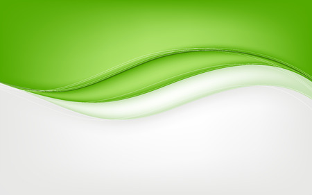 Abstract green wave background. Vector illustration. Clip-art Ilustracja