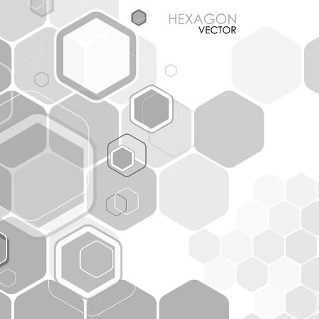 hexagonal: Abstract background hexagon. Vector. Clip-art Illustration