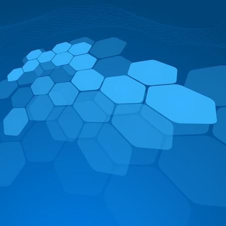 hi tech background: Abstract blue background hexagon. Vector. Clip-art