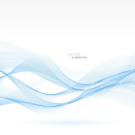 Abstracte achtergrond met blauwe lijnen. Vectorillustratie. Clip art