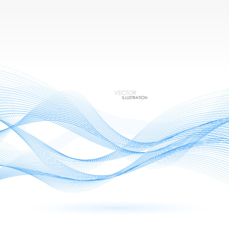 Abstract background with blue lines. Vector Illustration. Clip-art