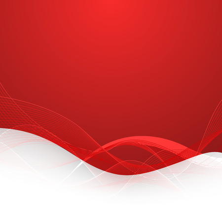 抽象的なライン背景が赤。ベクトルの図。クリップ アート