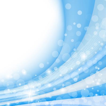 透明な波状バナー テンプレート。ベクトルの図。クリップ アート