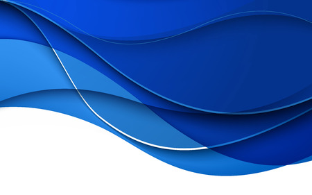 blue waves vector: Abstract blue waves - data stream concept. Vector Illustration. Clip-art