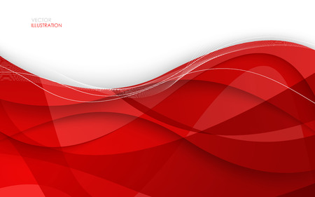 swoosh: Abstract red background. Vector Illustration. Clip-art