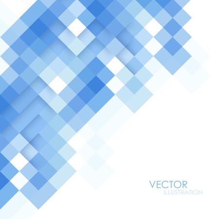 Abstrakt fyrkantig blå bakgrund Illustration