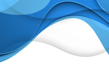 波と青い背景ベクトル。クリップ アート  イラスト・ベクター素材