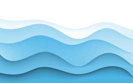 Abstract Design Créativité Contexte de Blue Waves. Vector. Clipart Banque d'images - 41387334