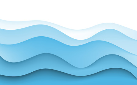 Abstract Design Creativity Background of Blue Waves. Vector. Clip-art