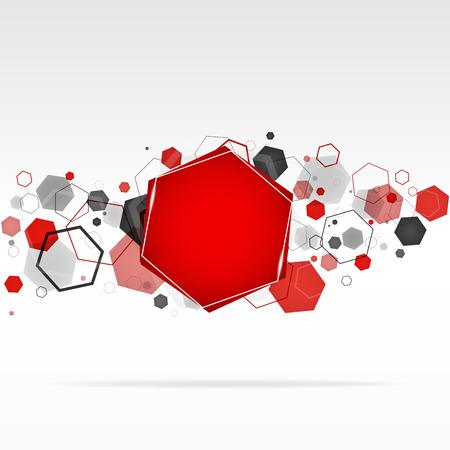 Abstracte geometrische zeshoek achtergrond Stock Illustratie