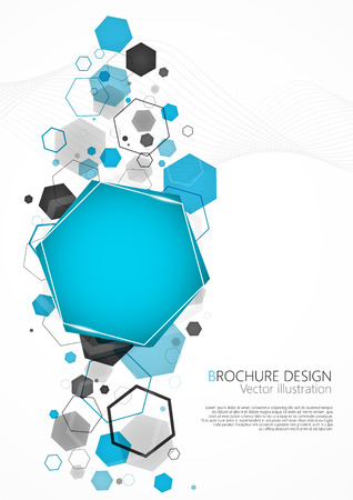 hexagon: Abstract blue background with hexagon