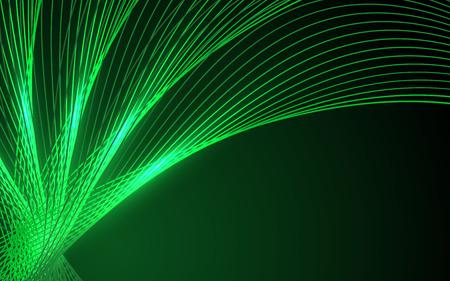 data stream: Abstract green waves - data stream concept. Vector. Clip-art Illustration