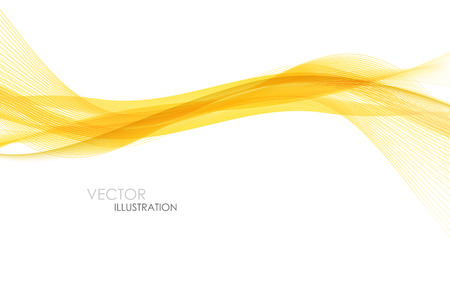 Abstract orange waves - data stream concept. Vector illustration. Clip-art