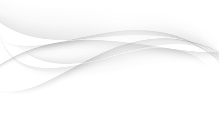 on white background: Abstract white waves - data stream concept. Vector illustration. Clip-art