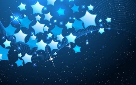 star background: Vector star background design. Clip-art