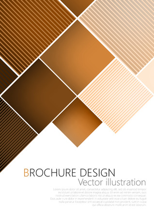 template: Business brochure cover design template. Brown background Vector. Clip-art
